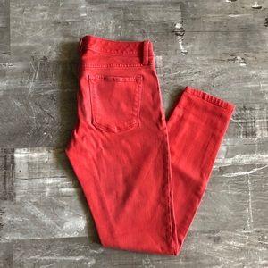 Banana Republic Red Skinny Jeans